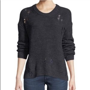 NWT AG Finn Distressed Crewneck Sweater